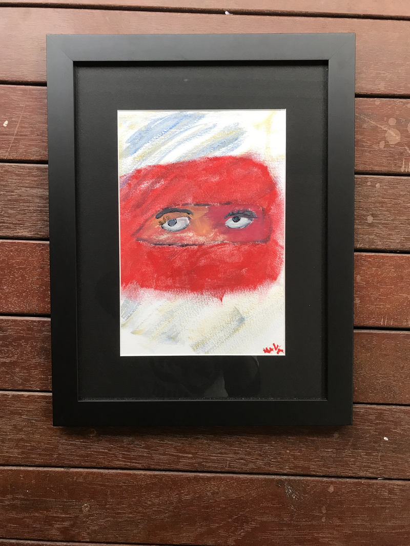 (CreativeWork) Eyes watching You by Nava But. Acrylic Paint. Shop online at Bluethumb.