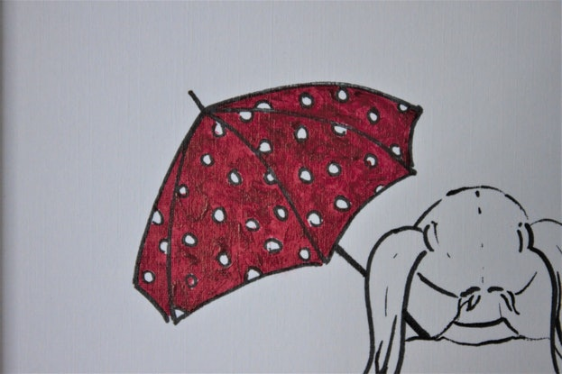 (CreativeWork) Rainy Day by Ann Perrot. Acrylic Paint. Shop online at Bluethumb.
