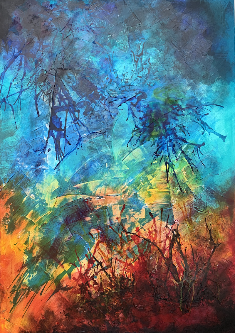 (CreativeWork) The reef beneath by Tharie .. Acrylic Paint. Shop online at Bluethumb.