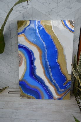 (CreativeWork) Royal Tides by Joey Davis. Resin. Shop online at Bluethumb.