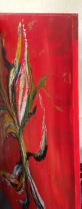 (CreativeWork) Running Root  by Renate Voigt. Acrylic Paint. Shop online at Bluethumb.