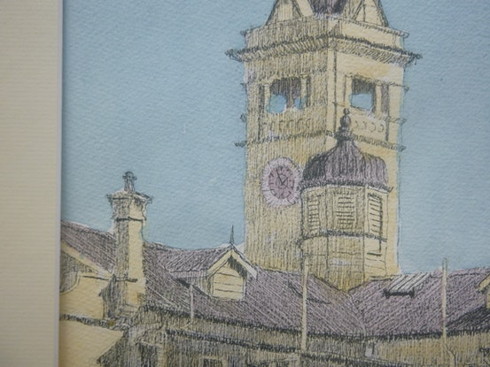 (CreativeWork) CHARTERS TOWERS POST OFFICE. by Glen Gillard. Mixed Media. Shop online at Bluethumb.