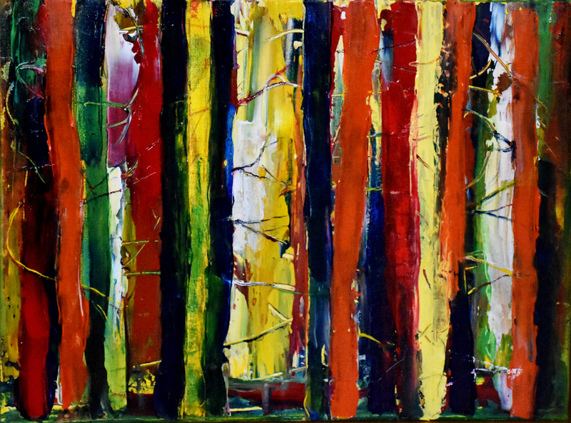 (CreativeWork) Deep Wilds by Emilia Rebelo. Acrylic Paint. Shop online at Bluethumb.
