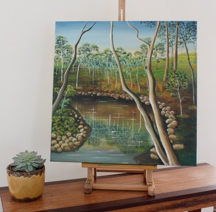 (CreativeWork) The Bend by Corinne Young. Oil Paint. Shop online at Bluethumb.