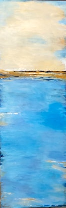 (CreativeWork) Turquoise bliss by Jenn Woodford. Acrylic Paint. Shop online at Bluethumb.