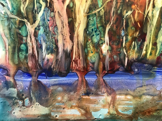 (CreativeWork) Below the surface  by Chris Hobel. Watercolour Paint. Shop online at Bluethumb.