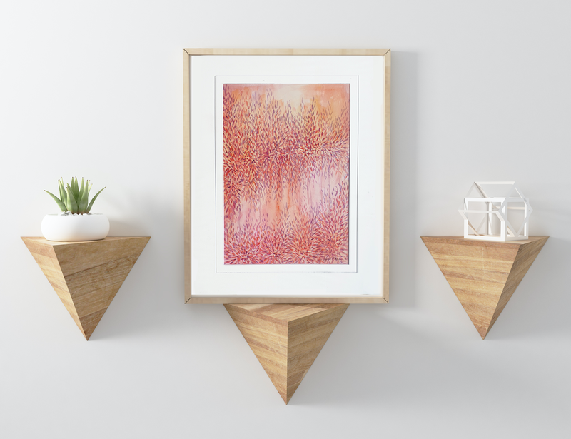 (CreativeWork) Light by the River by Leni Kae. Watercolour Paint. Shop online at Bluethumb.