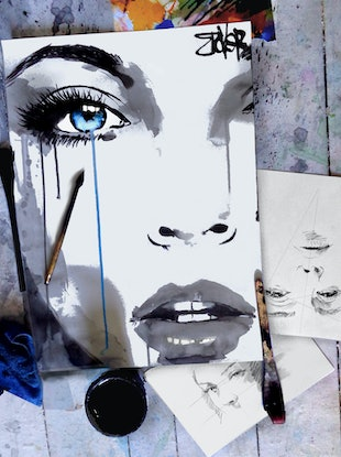 (CreativeWork) STARLET BLUE by loui jover. Drawings. Shop online at Bluethumb.