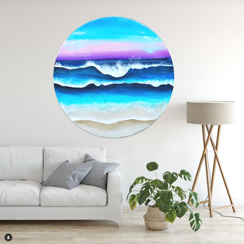 (CreativeWork) Sunset in Bondi by Eva Johnova. Resin. Shop online at Bluethumb.