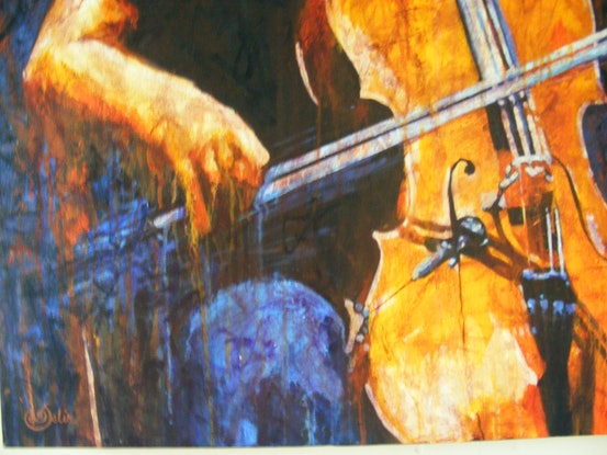 "(CreativeWork) ""THE MUSICIAN"" by Daniela Selir. Acrylic Paint. Shop online at Bluethumb."