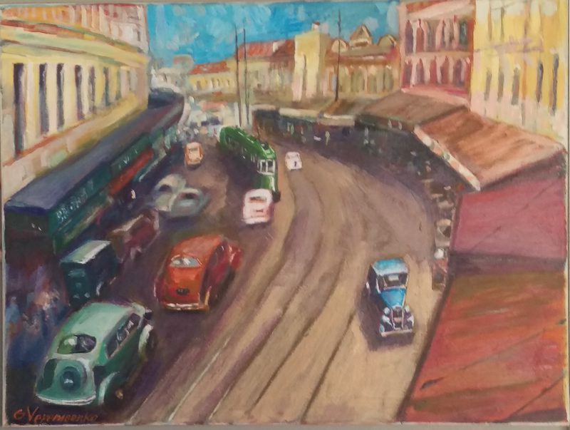 (CreativeWork) Sydney. 1930S by Gennady Veremeenko. Acrylic Paint. Shop online at Bluethumb.