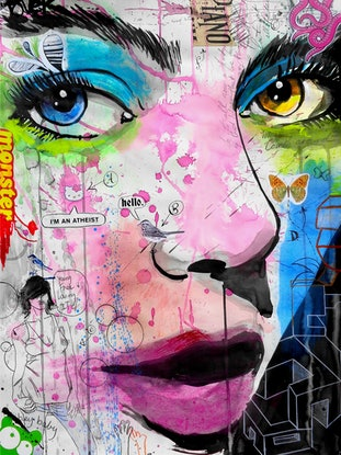 (CreativeWork) PEOPLE by loui jover. Drawings. Shop online at Bluethumb.