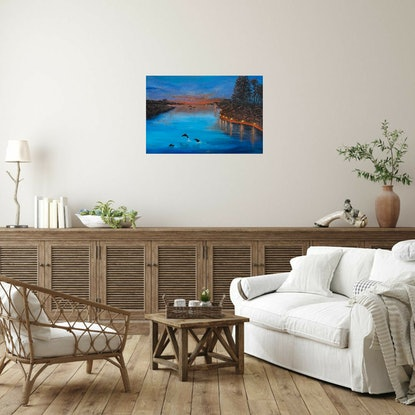 (CreativeWork) Bliss by Kerry Sandhu. Acrylic Paint. Shop online at Bluethumb.