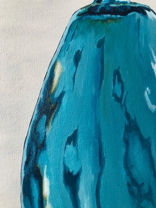 (CreativeWork) Tall Vintage Balloon  by Annabelle Brockman. Acrylic Paint. Shop online at Bluethumb.