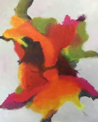 (CreativeWork) Writing in colour by Ron Brown. Acrylic Paint. Shop online at Bluethumb.