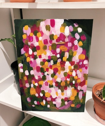 (CreativeWork) Keep it bright by Christabel Halim. Acrylic Paint. Shop online at Bluethumb.
