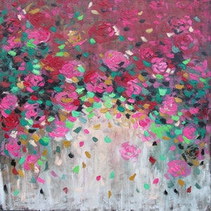 (CreativeWork) Total Bliss by Belinda Nadwie. oil-painting. Shop online at Bluethumb.