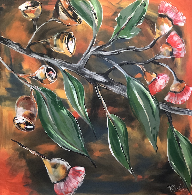 (CreativeWork) Wildfire by Kirsty Godwin. Acrylic Paint. Shop online at Bluethumb.