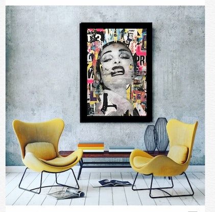 (CreativeWork) Street Icon 126 by Cold Ghost. Mixed Media. Shop online at Bluethumb.