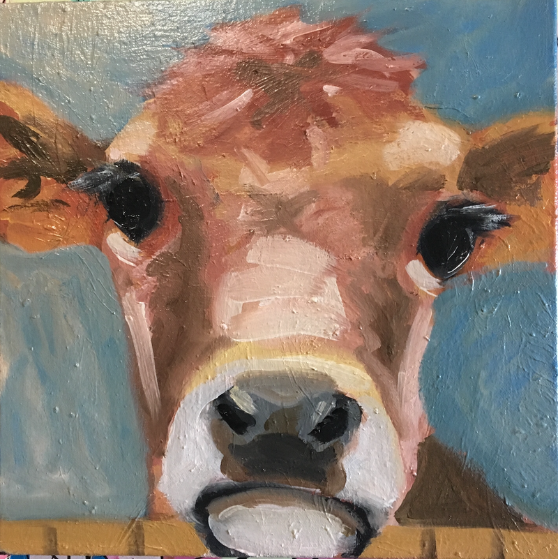 (CreativeWork) Nosey II by sara bell. Oil Paint. Shop online at Bluethumb.