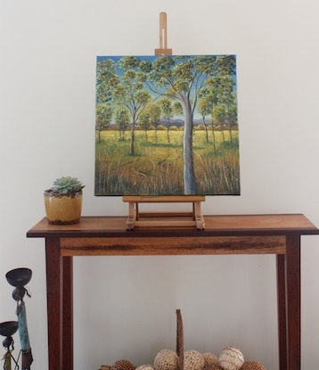 (CreativeWork) Truthful Tree   by Corinne Young. Oil Paint. Shop online at Bluethumb.