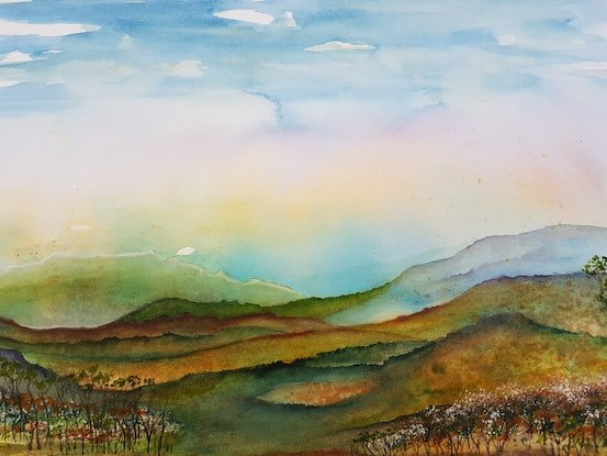 (CreativeWork) Morning has broken by Meredith Dixon. Watercolour Paint. Shop online at Bluethumb.
