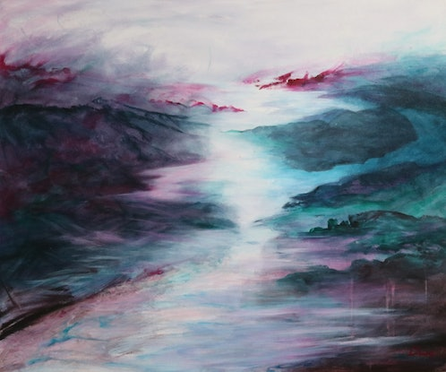 (CreativeWork) Approaching Storm by Lorraine Moore. Acrylic Paint. Shop online at Bluethumb.