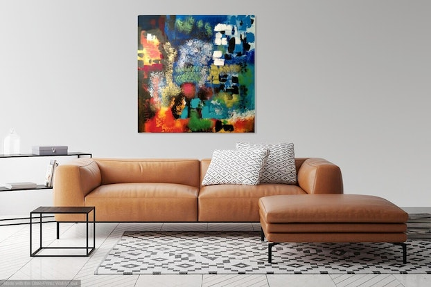 (CreativeWork) LIGHT UP THE SKY by Thomas Robson. Acrylic Paint. Shop online at Bluethumb.