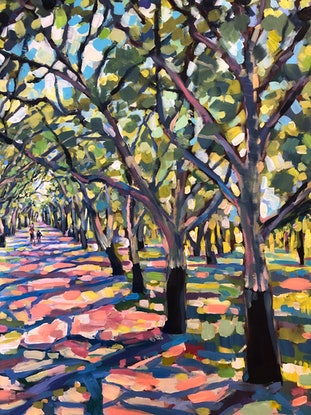 (CreativeWork) Walk in the Cork Oak Forest  by Valentyna Crane. Acrylic Paint. Shop online at Bluethumb.