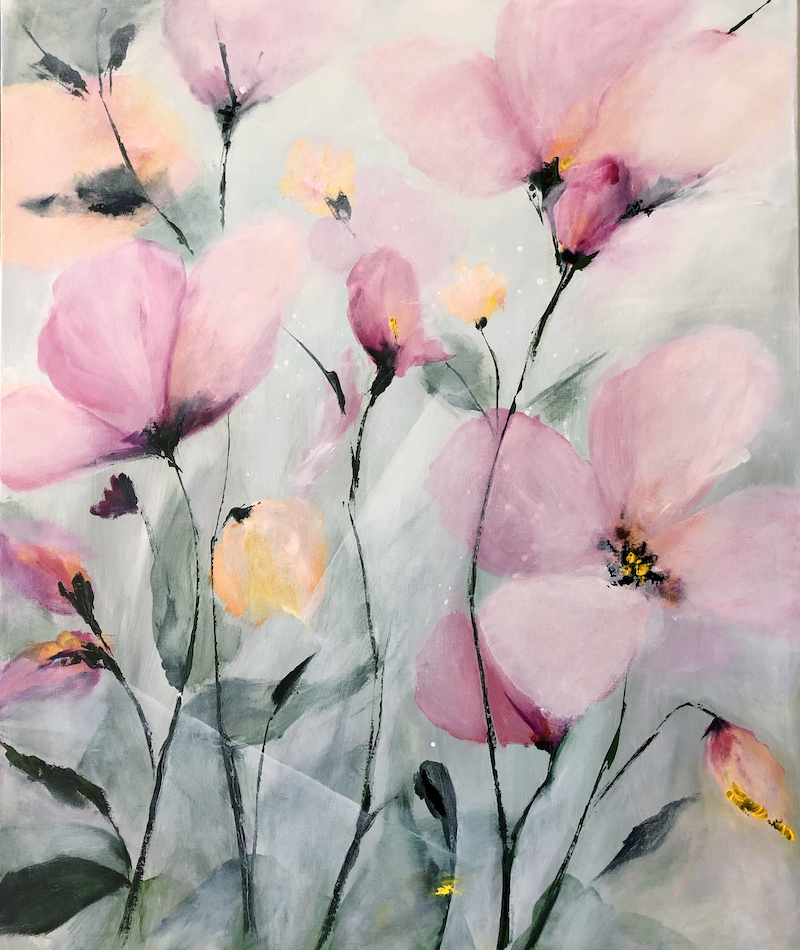 (CreativeWork) Softly, softly. by Marion Rispin. Acrylic Paint. Shop online at Bluethumb.