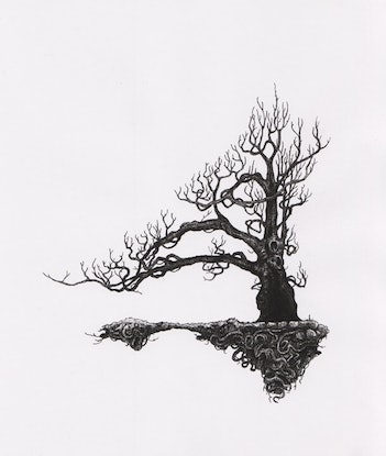 (CreativeWork) Ghost Tree Print Ed. 1 of 1 by Lewis Smart. Print. Shop online at Bluethumb.