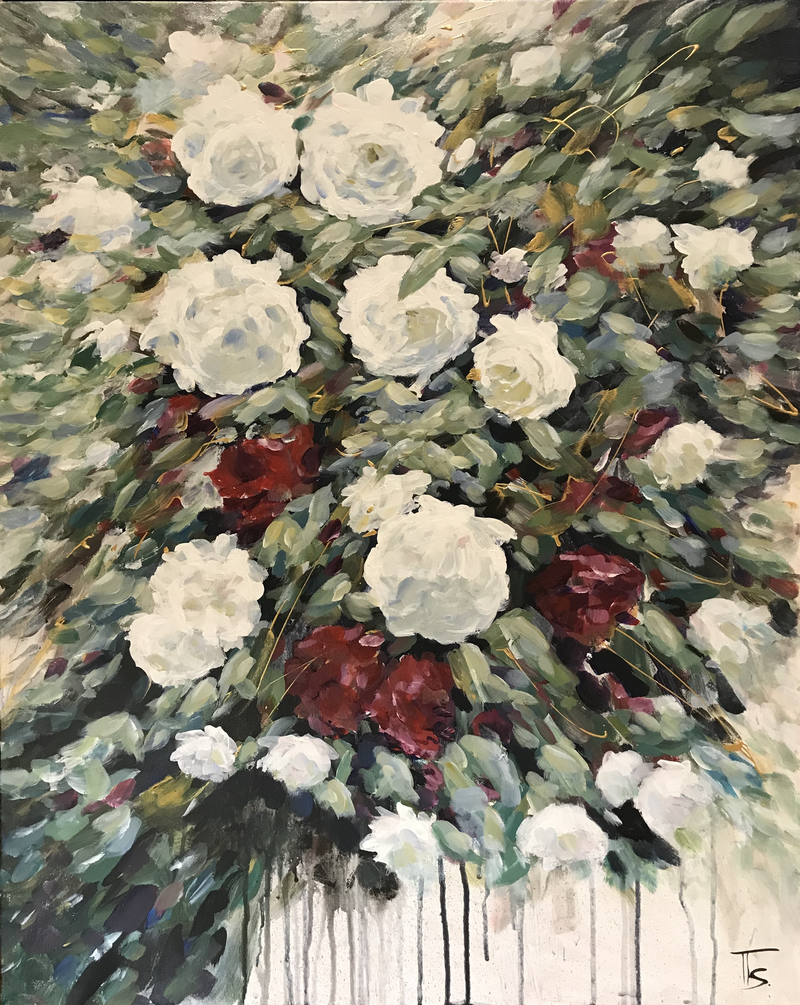 (CreativeWork) In Full Bloom 1 by Tooky Sriwong-rach. Acrylic Paint. Shop online at Bluethumb.