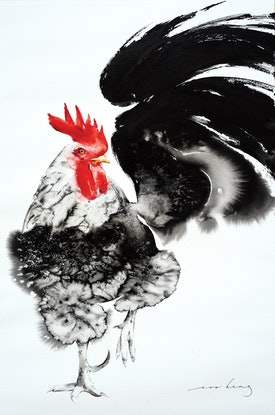 (CreativeWork) Rooster Fare by Soo Beng Lim. Drawings. Shop online at Bluethumb.