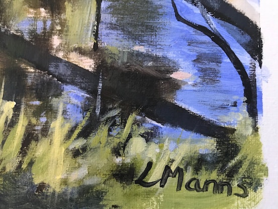 (CreativeWork) Wanderer's Walk by Leanne Manns. Acrylic Paint. Shop online at Bluethumb.