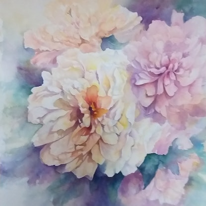 (CreativeWork) GARDEN BOUNTY by Cecelia Krieg. Watercolour Paint. Shop online at Bluethumb.
