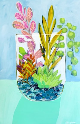 (CreativeWork) Pina Colada by Clair Bremner. Acrylic Paint. Shop online at Bluethumb.