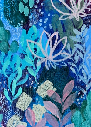 (CreativeWork) wonderland by Clair Bremner. Acrylic Paint. Shop online at Bluethumb.