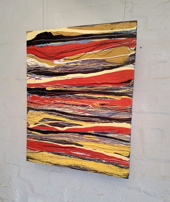 (CreativeWork) Pulse by William Holt. Acrylic Paint. Shop online at Bluethumb.