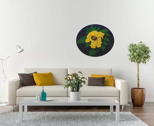 (CreativeWork) Buttercups by Claudette Pope    -    Wild Beauty. Acrylic Paint. Shop online at Bluethumb.