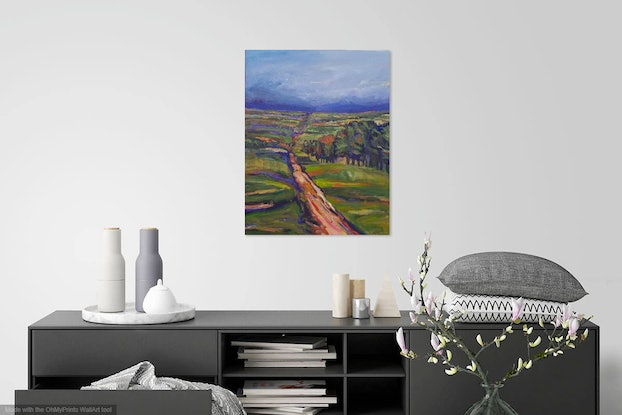 (CreativeWork) High Country Lane by Wendy Jagger. Acrylic Paint. Shop online at Bluethumb.