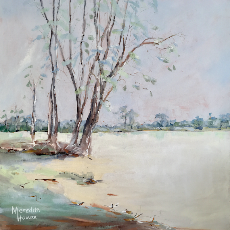 (CreativeWork) Sublime Lake by Meredith Howse. Oil Paint. Shop online at Bluethumb.
