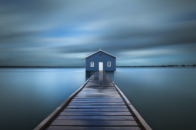 (CreativeWork) Crawley Edge Boatshed Ed. 2 of 4 by Piers Buxton. Photograph. Shop online at Bluethumb.