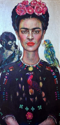 (CreativeWork) Frida's Gift Limited Edition Giclee Fine Art Print  by Tanya Cole. Print. Shop online at Bluethumb.