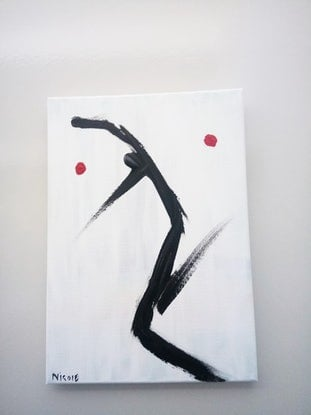 (CreativeWork) Dance like no one is watching  by Nicole Seal. Acrylic Paint. Shop online at Bluethumb.