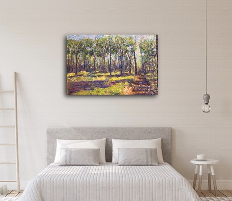 (CreativeWork) Walk Into A National Park  by Tooky Sriwong-rach. Acrylic Paint. Shop online at Bluethumb.