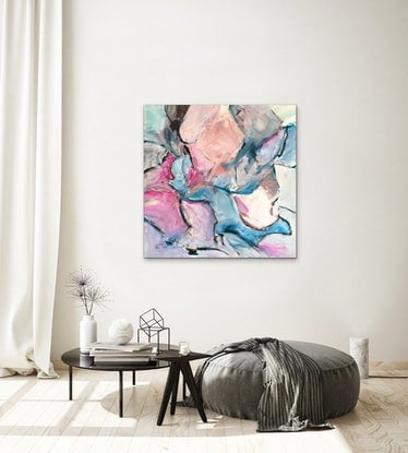 (CreativeWork) Opal Splash by Meredith Howse. Acrylic Paint. Shop online at Bluethumb.