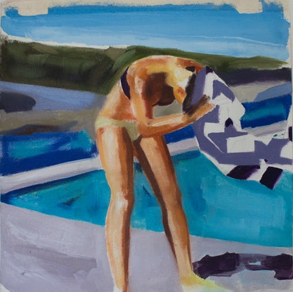 (CreativeWork) Towel Head @ Clovelly by Marko Hrubyj-Piper. Oil Paint. Shop online at Bluethumb.