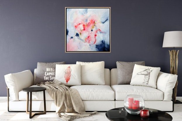 (CreativeWork) Love Blooms - Framed Commission by Brenda Meynell. Acrylic Paint. Shop online at Bluethumb.