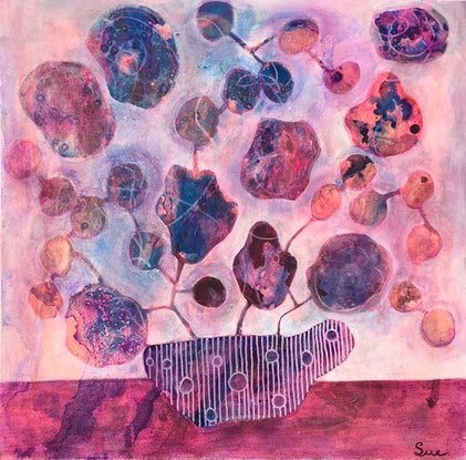 (CreativeWork) Bunches 13 by sue carter. Mixed Media. Shop online at Bluethumb.