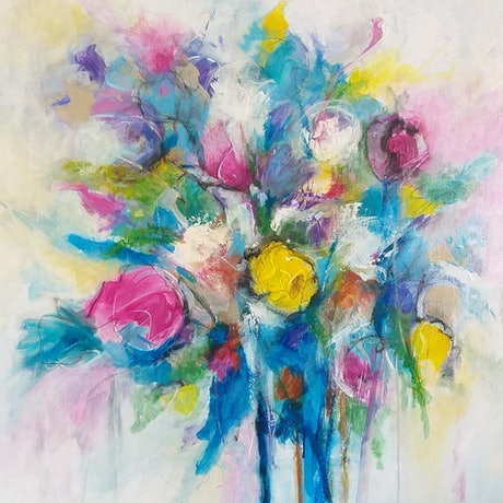 (CreativeWork) PASTEL BREEZE by Cecelia Krieg. Acrylic Paint. Shop online at Bluethumb.